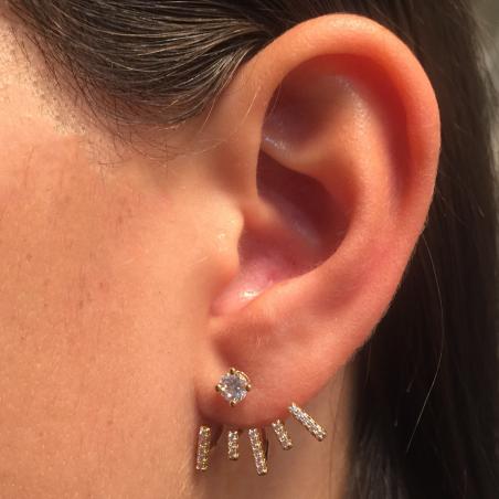 Boucles d'oreilles balancier plaqué or oxyde