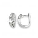 boucles d oreilles argent et oxyde de zirconium