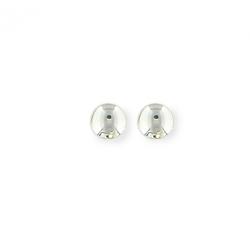 boucles d oreilles argent bouton