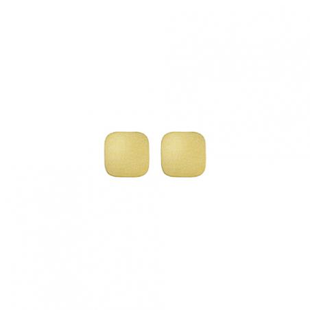 Boucles d'oreilles en acier carré mate et brillant