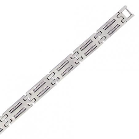 Bracelet en acier, motif cable
