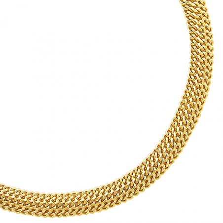 Bracelet en plaqué or, maille américiane