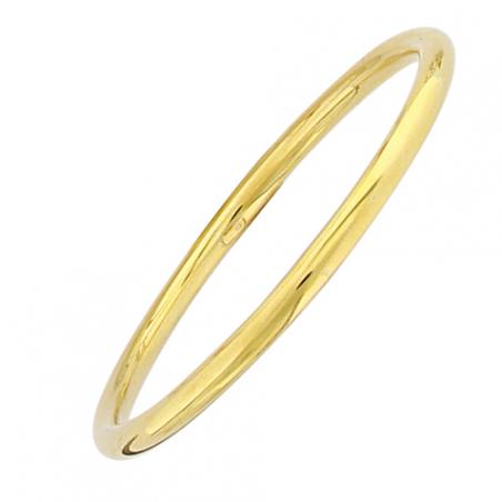 Bracelet rigide rond en argent doré