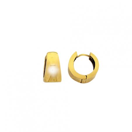 Créoles en plaqué or carré