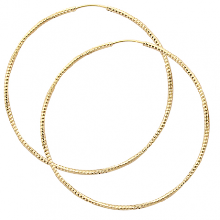 Créoles striée en plaqué or