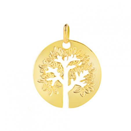 Pendentif arbre de vie plaqué or