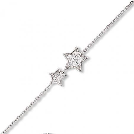 Bracelet argent oxyde en 18 cm mise à longueur 16cm