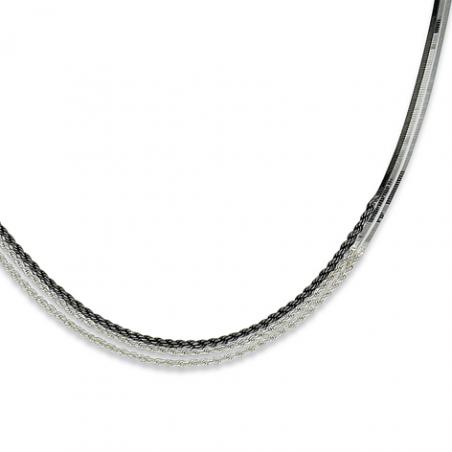 Collier argent 2 tons en 42 cm mise à longueur 45 cm