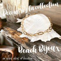 """Découvrez nos """"Beach Bijoux"""", la collection pour briller en vacances. ☀️🏖🍹  Collier en acier doré  🛒🛍Achetez en ligne ou sur place à la boutique. Infos dans bio.  www.saintefoy-bijoux.fr #saintefoybijoux #bijouxsf #collieracierdoré #steeljewelery #goldplatedsteel #necklace #collier #goldplatedjewelry #bijouxaddict #bijoufantaisie #saintfoybijoux #fashiontrend #fashionjewellery #beachstyle #instabijoux #ladiesjewelry #instadaily #instajewelry #wholesalejewelry #pariswholesalejewellery #grossistebijoux #frenchjewellery #bijouxfrancais #necklace #bijouxparis #beachbijoux #vacationjewelry #modevacances #vacationmode #jeweleryaddict"""